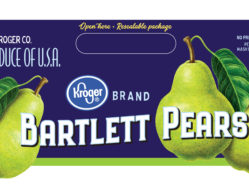 Bartlett Pears for Kroger produce packaging