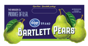 Bartlett Pears for Kroger produce packaging